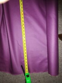 Lilac cotton/polyester mix fabric