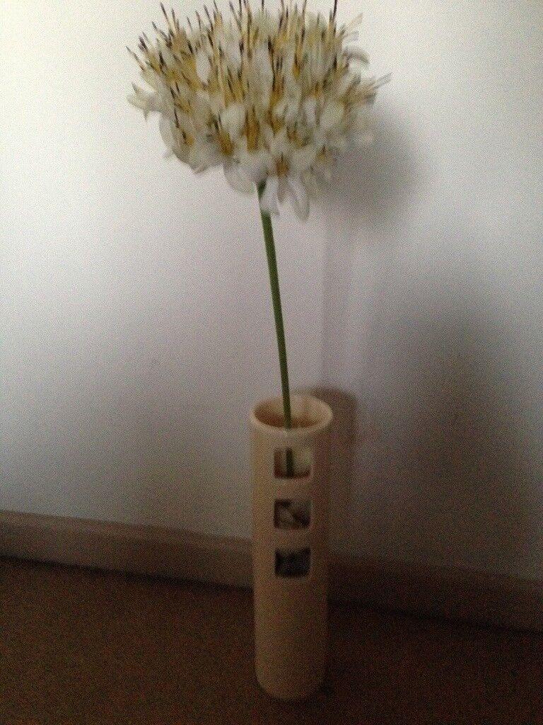 Cream ceramic vase filled with cream material petals and cream cream ceramic vase filled with cream material petals and cream artificial flower 5 reviewsmspy
