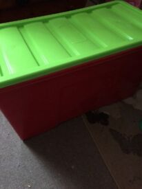 Large plastic toy storage box