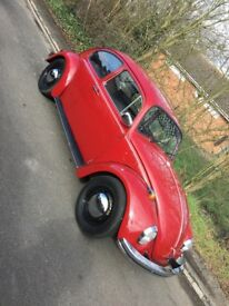 1969 Classic Volkswagen Beetle 1300 Royal Red