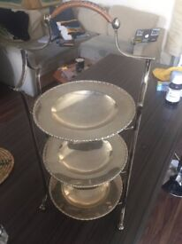 Vintage/Antique Silver Plated Three Tier Cake Stand by Mappin & Webb