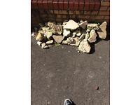 Pile of rocks for rockery etc free