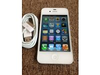 Apple iPhone 4 8gb Black/White UNLOCKED