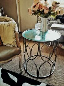 Silver Mirrored French Chic Side table.