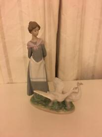 Lladro Lady and Ducks
