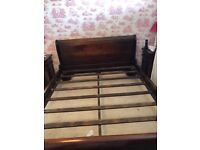 Stunning king size solid wooden bed frame