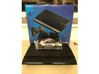 Sony PlayStation PS3 Super Slim 750gb + 3 Games (GTA V, Injustice, Need for Speed Rivals)