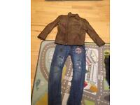 Boys river island jacket and jeans