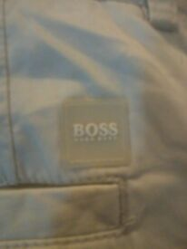 "HUGO BOSS MENS DESIGNER BEIGE CHINOS / COST £125 / PERFECT CONDITION / WAIST 36"" / LEG 32"" / TRENDY"
