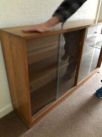 Glass cabinet oak wood