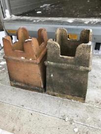 Antique Victorian chimney pots