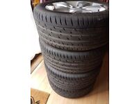 "Quick sell 18"" Alloy wheels and tyres"
