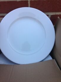 "Standard Winged 12""/31cm Plates x 12 Porcelite Restaurant Dinning Tableware"