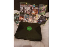 Original Xbox with 2 controllers, cables and 10 games- fully functional