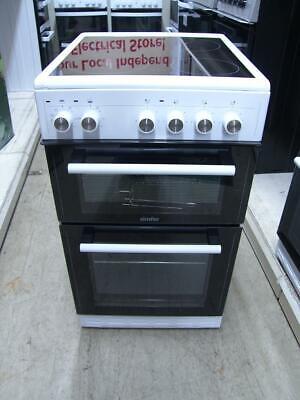 Simfer SCOD52CEW White Electric Cooker Double Oven Ceramic Hob 50cm SCOD52CE PEC