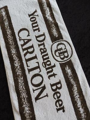 VINTAGE CUB Carlton Draught 1980s BEER Bar Towel RUNNER MAT NO Stains FREE POST