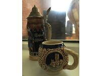 Beer Steins, Toby jug, bone china Roses collectables