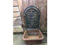 Antique Cast Iron Water Garden Feature