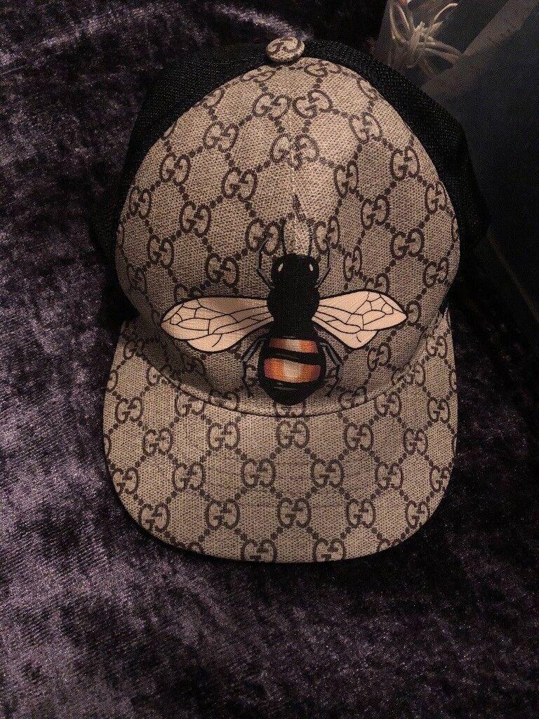 6904f41168e7b Bee print Gucci hat