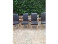 Leather chairs x4