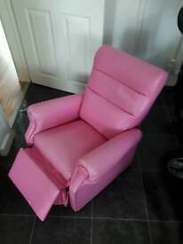 Pink reclining chair