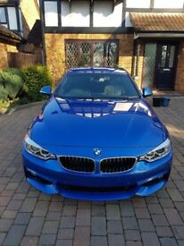 2013 (63) BMW 435d xDrive Auto M Sport Coupe | Estoril Blue Metallic | Pro Media | 19 inch BMW 442M