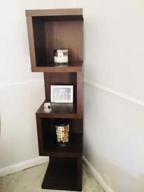 Dark solid wood shelves from Next