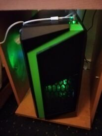 CiT F3 Green MicroATX Tower PC Gaming Case