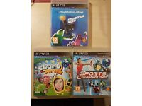PS3 Move Games Bundle - Start The Party / Sports Champions / Starter Disc