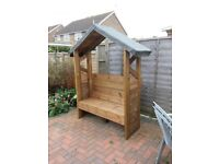 Timber Stained Arbour Unit
