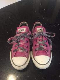 Girls pink Converse All Star size 1