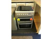 *** Silver Hotpoint 60cm ceramic double oven cooker***Free Delivery**Fitting**Removal
