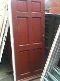 Exterior wooden door with no glass