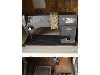 Singer industrial sewing machine