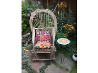 Beautiful Adirondack Willow garden armchair.