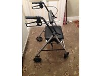 4 wheel folding Zimmer frame only used a couple of times