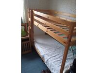 Pine bunk beds, as new condition