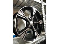 "4 18"" alloy wheels alloys rims tyres to fit seat Skoda vw Volkswagen Audi A4"
