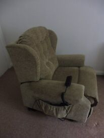 Sherborne Lynton Riser Recliner Chair and 3 Seater Sofa suite