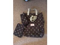 CATH KIDSTON, Baby Nappy/Changing/Diaper Bag, olive green & chocolate