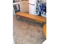 Large pitch pine bench (price drop).......bargain