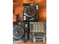 Denon DN-X1500 Digital mixer and DN-S500 & DN-S300 CD Player