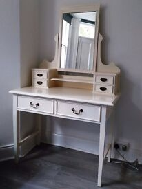 White antique dressing table