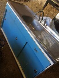 Kitchen sink unit retro