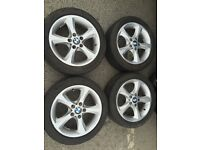 BMW alloy wheels x4 £120 Ono can deliver