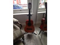 Stagg 3/4 nylon string acoustic guitar, stand and soft cover. £30 Ono.