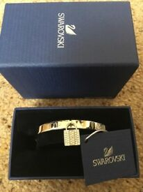 Swarovski crystal padlock bangle brand new