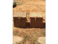 Wicker storage boxes x 2