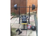 Bench press and other fitness equipment