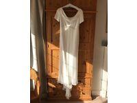 Ivory wedding dress size 12 .